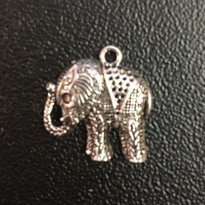 Elephant Necklace or Bracelet Charm Silver boho